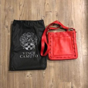 Vince Camuto Red Leather Crossbody